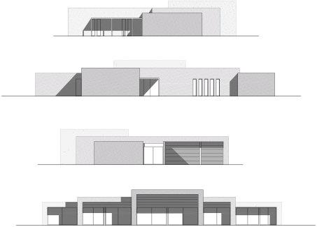 Casa Barcelona modular Fachada plano