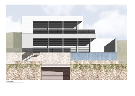 Costa Brava Begur presentacion de fachada plano