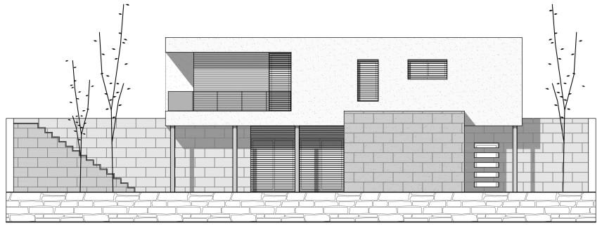 Construcción casa modular Tarragona Fachada