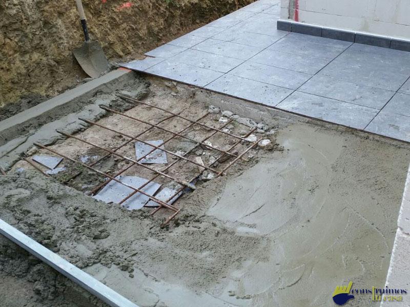 Construccion de entrada de una vivienda