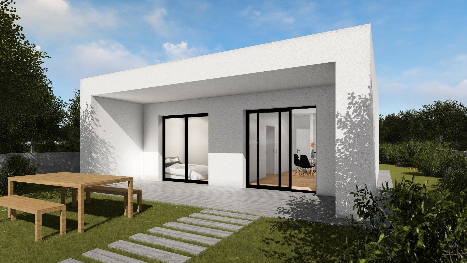 render exterior modelo de vivienda prefabricada besalu