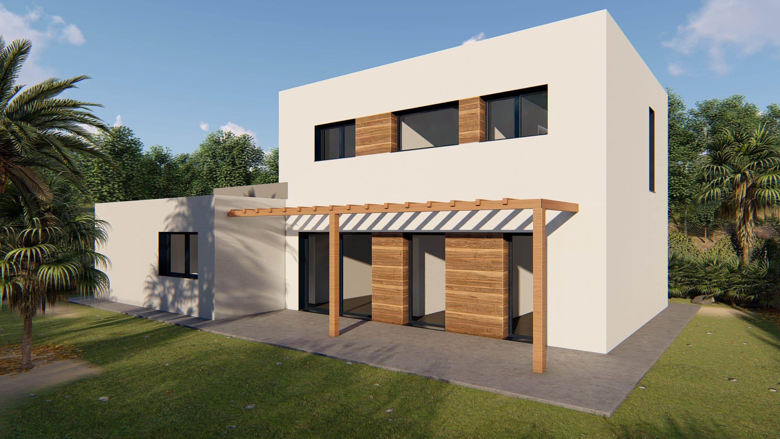 Casa prefabricada modelo Sant Cugat - façana